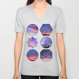 Purple Skies Sunset Collection Unisex V-Neck