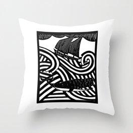 Herman - Paper Cut Illustration. 2015 Throw Pillow