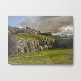 Sacsayhuaman Inca Fortress Metal Print