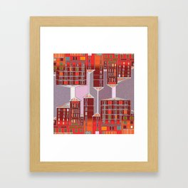 Colored windows Framed Art Print
