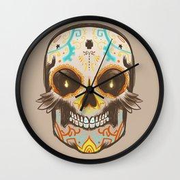 Dia de muertos Skull Wall Clock