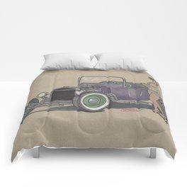 T-bucket Girl Comforters