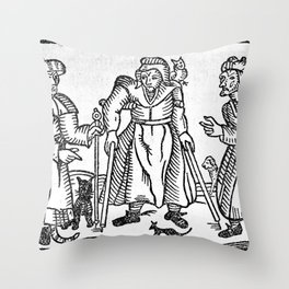 The Devil in Britain and America Throw Pillow