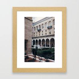 Boston Public Library  Framed Art Print