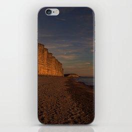 East Cliff Sunset Dorset iPhone Skin
