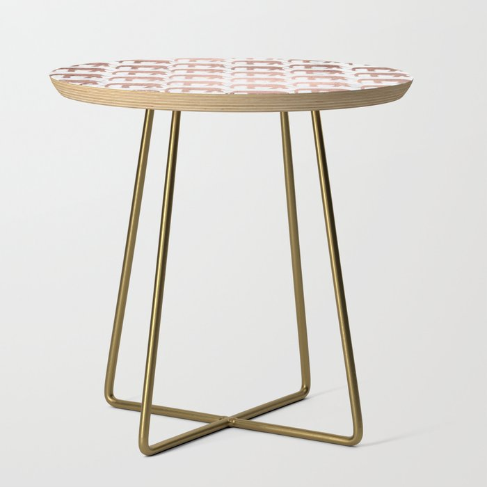 Gold And White Marble Coffee Table.Modern Faux Rose Gold Elephants White Marble Side Table By Girlytrend