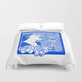 Lady Day (Billie Holiday block print) Duvet Cover