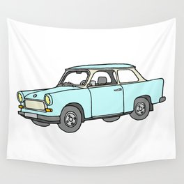 Trabant or Trabi. Car of GDR Wall Tapestry
