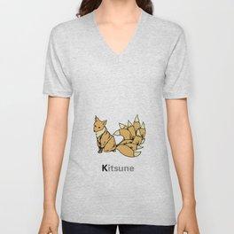 Kitsune Unisex V-Neck