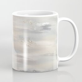 Neutral Driftwood Light Gray Abstract Beachy Painting Coffee Mug