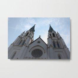 Cathedral, Savannah Ga. Metal Print