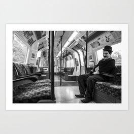 Mr. Chaplin Commuting. Art Print