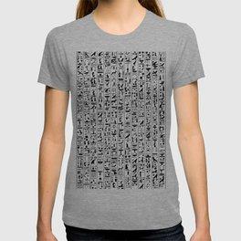Hieroglyphics B&W / Ancient Egyptian hieroglyphics pattern T-shirt
