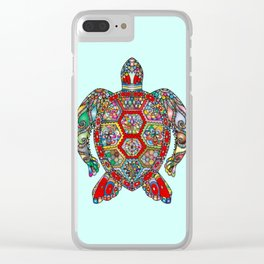Exotic Gem Turtle Clear iPhone Case