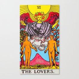 The Lovers Tarot Card Canvas Print