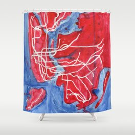 My Messy NYC Subway Map Shower Curtain