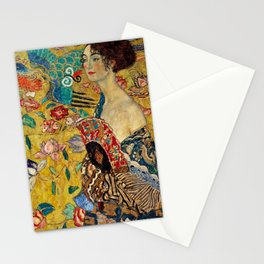 Gustav Klimt Lady With Fan Stationery Cards