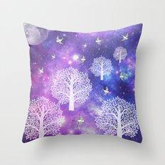 Space Trees Throw Pillow