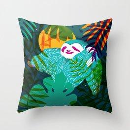 jungle bear Throw Pillow