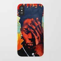 basquiat iPhone & iPod Cases featuring Basquiat  by jack shaftoe