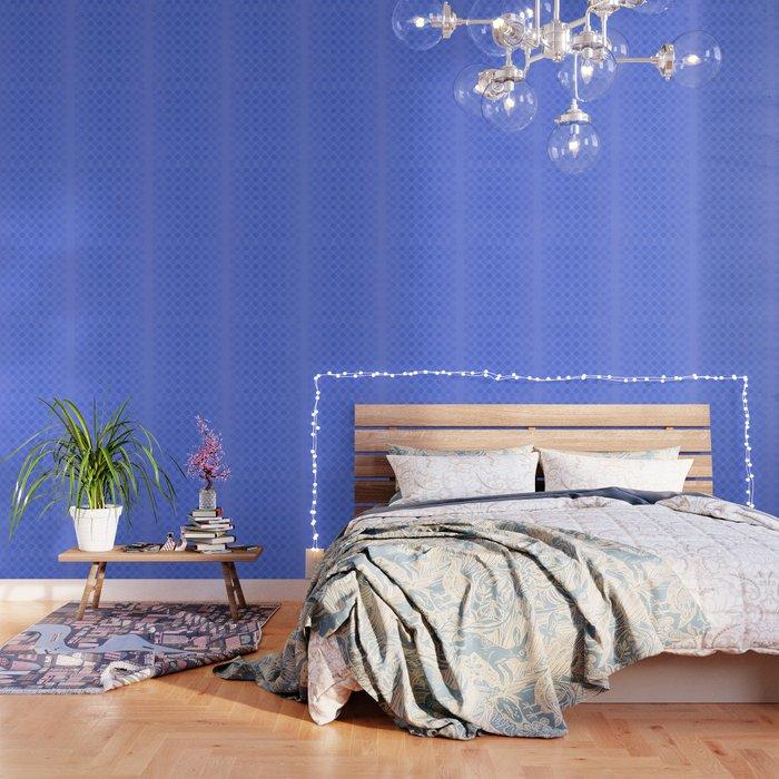 Faded blue circles pattern Wallpaper