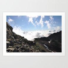 Stones & Clouds Art Print