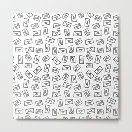 Little Hand-Drawn Love Letters Metal Print