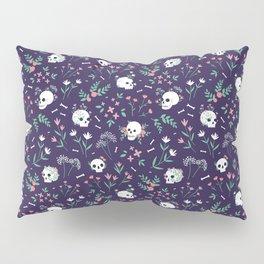 Skull Floral Pillow Sham