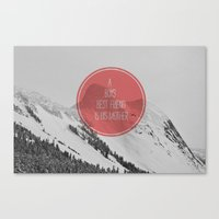 best friend Canvas Prints featuring best friend by Jesse Robinson Williams