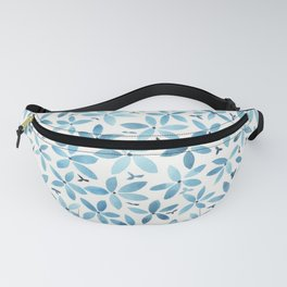 Blue Bouquet Fanny Pack