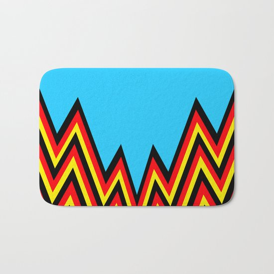 Black And Red And Yellow......And Blue Bath Mat