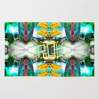 transformer Area & Throw Rugs featuring RoboTaco by Riot Clothing