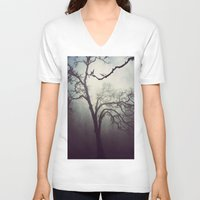 silent V-neck T-shirts featuring Silent Anticipation by Lawson Images