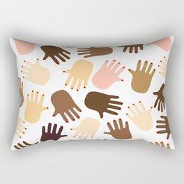 Don't get all handsy Rectangular Pillow