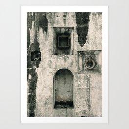 Quattro Niches, military artillery fort Art Print