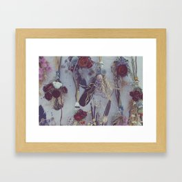 Wildflower and Feather Bundles Framed Art Print
