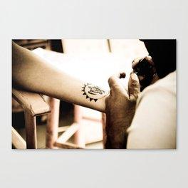 Henna Turtle Canvas Print