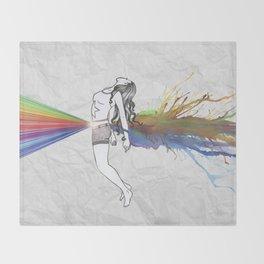 I Am Colour Throw Blanket
