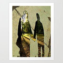 Dreams of sidewalk shadows Art Print