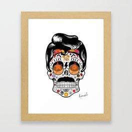 SKULL ROCK / Famous Musical Groups - Symbols - Digital Illustration Art - Pop Art - Wall Decor Framed Art Print