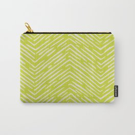 Chartreuse hand drawn pattern Carry-All Pouch