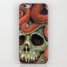 orange tentacles skull iPhone & iPod Skin