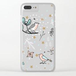 Scandinavian birds Clear iPhone Case
