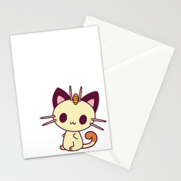 Kawaii Chibi Cat Meowth Stationery Cards