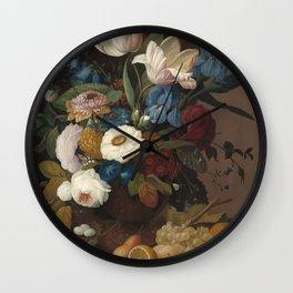 Severin Roesen Still Life Wall Clock