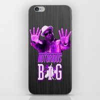 notorious big iPhone & iPod Skins featuring Notorious Big by Gold Blood