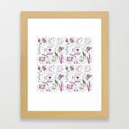 Love Note watercolor pattern Framed Art Print
