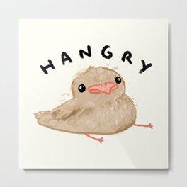 Hangry Chick Metal Print