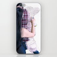 boyfriend iPhone & iPod Skins featuring Drawing boyfriend by Rebeca Zum