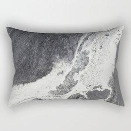 Silver Foam Rectangular Pillow